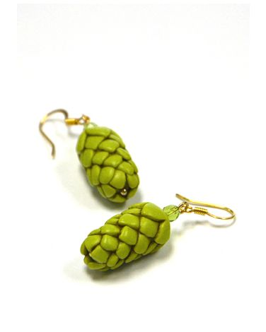Hop Earrings with Bling (Gold-plated)