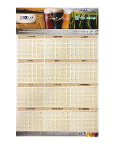 2015 Brewing Calendar (Wall Calendar)
